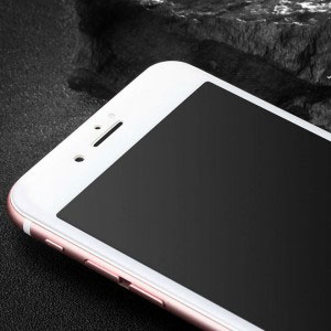 Стъклен протектор за Apple iPhone 7 Plus (full 3D cover бял)