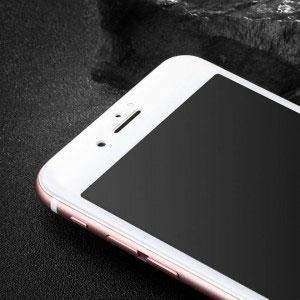 Стъклен протектор за Apple iPhone 8 Plus (3D бял)
