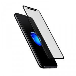 Стъклен протектор за Apple iPhone X (3D черен)