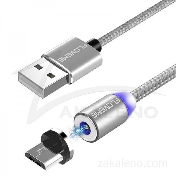 Магнитен кабел за зареждане Floveme, USB 2.0 A – Micro USB B