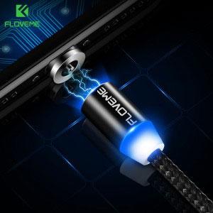 Магнитен кабел за зареждане Floveme, USB 2.0 A - USB Type C