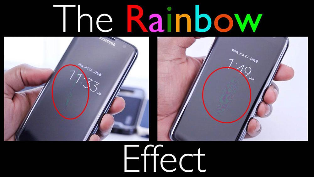 Стъклен протектор с ефект на дъгата