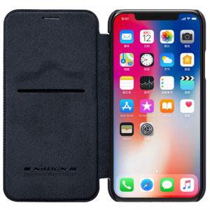 Кожен калъф Nillkin Qin за Apple iPhone X, XS