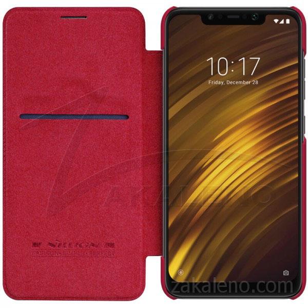 Кожен калъф Nillkin Qin за Xiaomi Pocophone F1