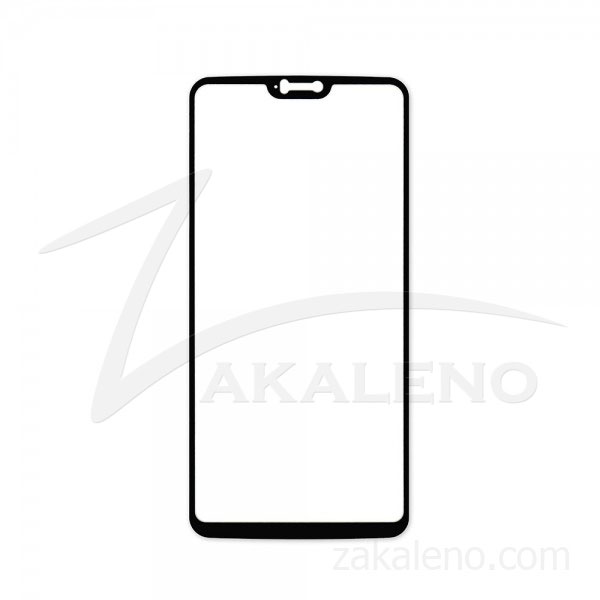 Стъклен протектор за OnePlus 6 (цветна рамка с цяло лепило)