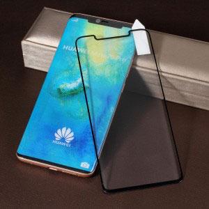 Стъклен протектор за Huawei Mate 20 Pro (извит 3D протектор с цяло лепило)