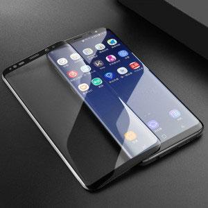 Стъклен протектор за Samsung Galaxy S9 (извит 3D протектор с цяло лепило)
