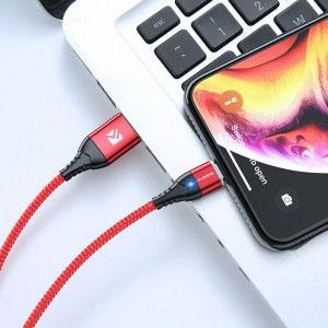 Магнитен кабел за зареждане/данни Floveme, USB 2.0 A – Apple Lightning