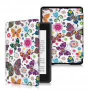 Кожен калъф за Amazon Kindle Paperwhite 4 2018 – Пеперуди с цветя