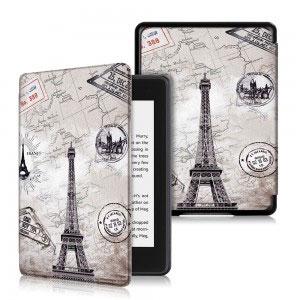 Кожен калъф за Amazon Kindle Paperwhite 4 2018 - Айфелова кула
