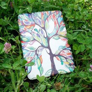 Кожен калъф за Amazon Kindle Paperwhite 4 2018 - Дърво на щастието