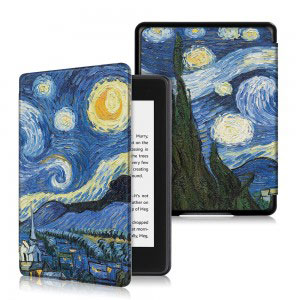 Кожен калъф за Amazon Kindle Paperwhite 4 2018 - Звездна нощ