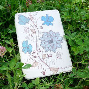 Кожен калъф за Amazon Kindle Paperwhite 4 2018 - Акварелни цветя