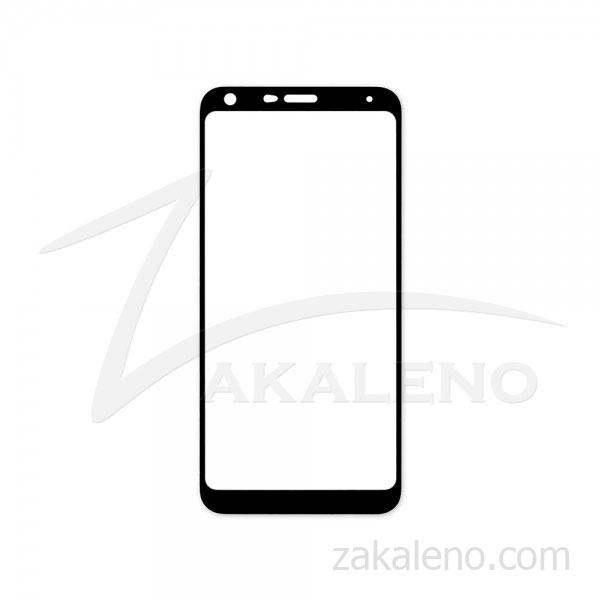 Стъклен протектор за LG Q7 (черна рамка с цяло лепило)