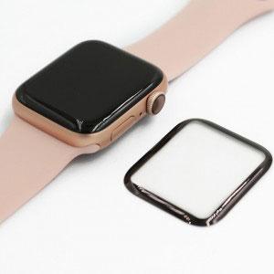 Стъклен протектор за Apple Watch Series 4 44mm (извит 3D протектор с цяло лепило)