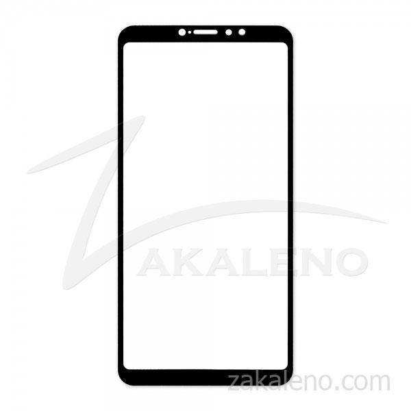 Стъклен протектор за Xiaomi Mi Max 3 (черна рамка със странично лепило)