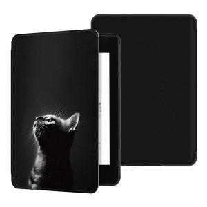 Кожен калъф за Amazon Kindle Paperwhite 4 2018 - Самотна котка