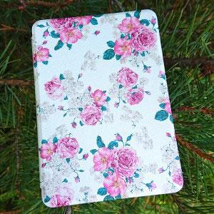 Кожен калъф за Amazon Kindle Paperwhite 4 2018 - Ретро флорален тапет