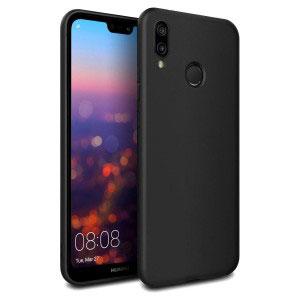 Силиконов калъф гръб за Huawei P20 Lite - черен