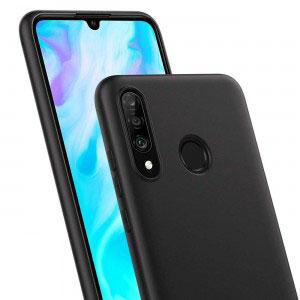 Силиконов калъф гръб за Huawei P30 Lite - черен