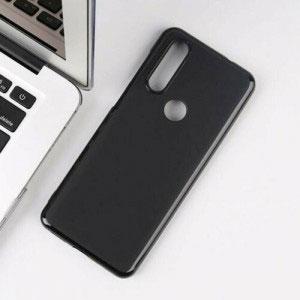 Силиконов калъф гръб за Motorola One Action - черен