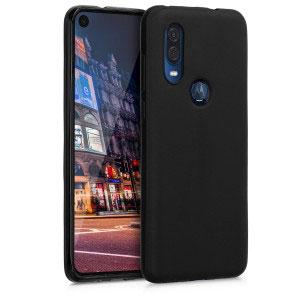 Силиконов калъф гръб за Motorola One Vision - черен