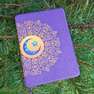 Кожен калъф за Amazon Kindle Paperwhite 1, 2, 3 - Слънце и луна