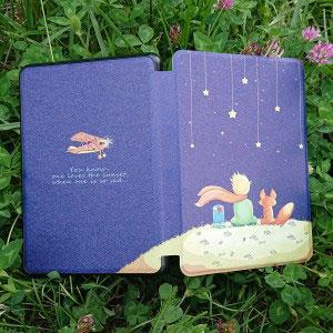 Кожен калъф за Amazon Kindle Paperwhite 1, 2, 3 - Малкият принц