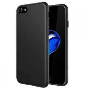 Силиконов калъф гръб за Apple iPhone 7 - черен