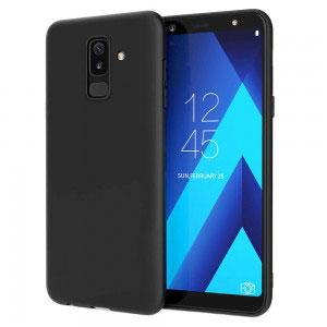 Силиконов калъф гръб за Samsung Galaxy A6+ Plus 2018 - черен