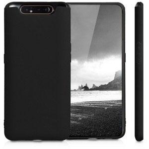 Силиконов калъф гръб за Samsung Galaxy A80, A90 - черен