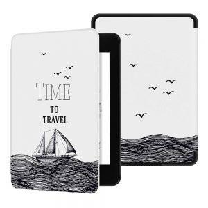 Кожен калъф за Amazon Kindle 2019 - Time to travel