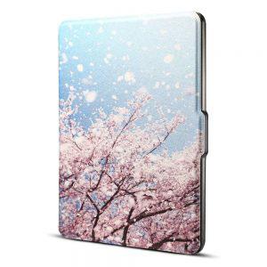 Кожен калъф за Amazon Kindle Paperwhite 1, 2, 3 - Разцъфнали вишни