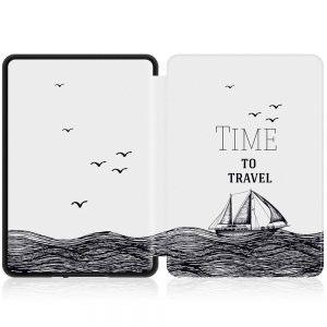 Кожен калъф за Amazon Kindle Paperwhite 1, 2, 3 - Time to travel