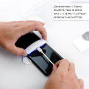 Стъклен протектор с течно UV лепило за Samsung Galaxy S20