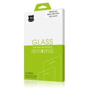 Стъклен протектор за Motorola Moto G8 Plus (черна рамка с цяло лепило)