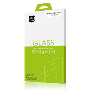 Стъклен протектор за Samsung Galaxy A51 (черна рамка с цяло лепило)