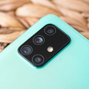 Гъвкав стъклен протектор за задна камера за Samsung Galaxy A71