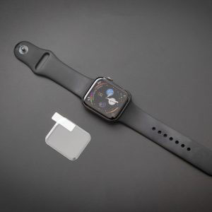 Стъклен протектор с течно UV лепило за Apple Watch Series 6 44mm