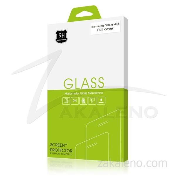 Стъклен протектор за Samsung Galaxy A41 (черна рамка с цяло лепило)