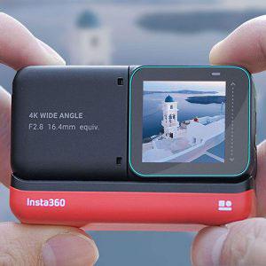 Стъклен протектор за Insta360 ONE R Twin Edition, дисплей + 2 обектива