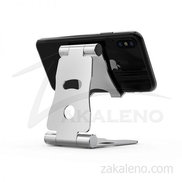 Универсална сгъваема алуминиева стойка за телефон, таблет за бюро, маса