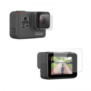 Стъклен протектор за GoPro Hero 5 Black, дисплей + обектив