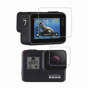 Стъклен протектор за GoPro Hero 7 Black, дисплей + обектив
