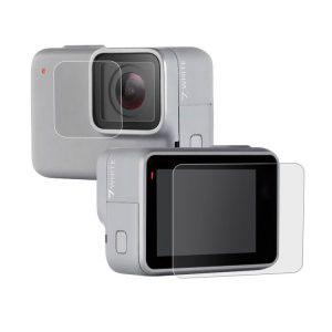 Стъклен протектор за GoPro Hero 7 White/Silver, дисплей + обектив