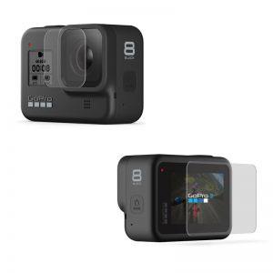 Стъклен протектор за GoPro Hero 8 Black, дисплей + обектив