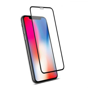Стъклен протектор за Apple iPhone X, XS (3D черен)