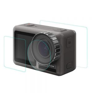 Стъклен протектор за DJI Osmo Action, 2бр. дисплей + обектив