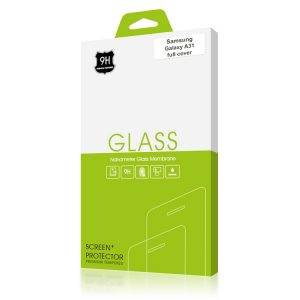 Стъклен протектор за Samsung Galaxy A31 (черна рамка с цяло лепило)