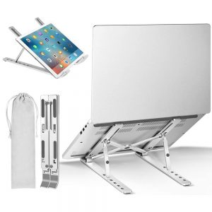 Сгъваема алуминиева стойка за лаптоп (macbook) за бюро, маса